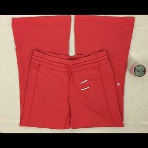Lululemon Size 6 Wide Leg Yoga Lounge Pants Zipper